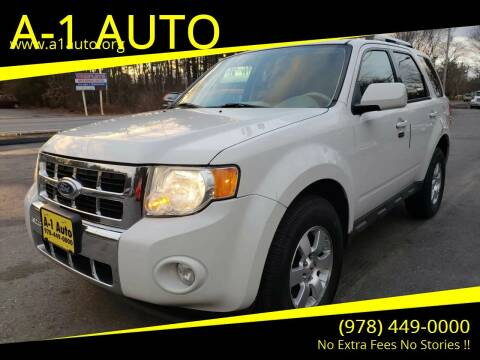 2010 Ford Escape for sale at A-1 Auto in Pepperell MA