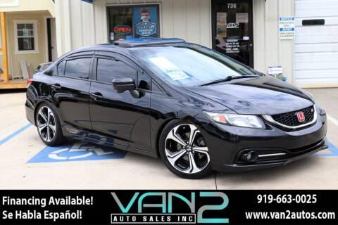 2014 Honda Civic for sale at Van 2 Auto Sales Inc in Siler City NC