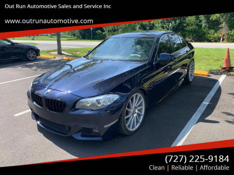2012 BMW 5 Series for sale at Out Run Automotive Sales and Service Inc in Tampa FL