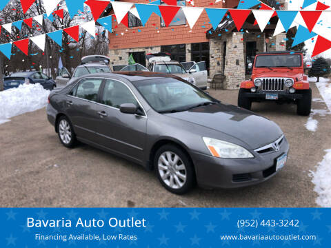2007 Honda Accord for sale at Bavaria Auto Outlet in Victoria MN