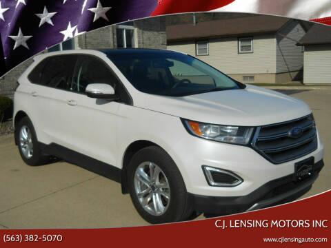 2017 Ford Edge for sale at C.J. Lensing Motors Inc in Decorah IA