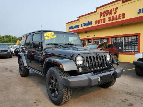 2015 Jeep Wrangler Unlimited for sale at Popas Auto Sales in Detroit MI