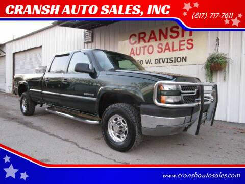 2005 Chevrolet Silverado 2500HD for sale at CRANSH AUTO SALES, INC in Arlington TX