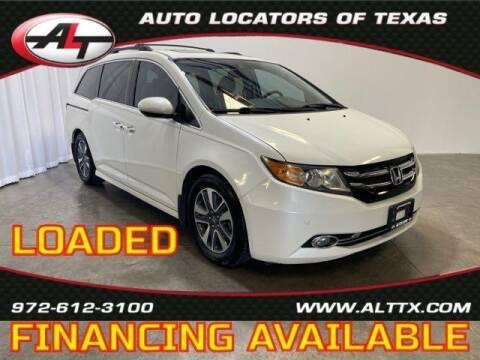 2015 Honda Odyssey for sale at AUTO LOCATORS OF TEXAS in Plano TX