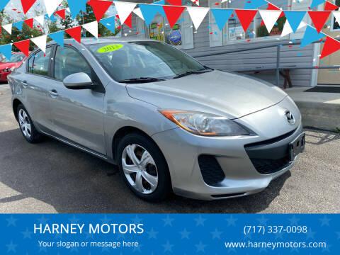 2013 Mazda MAZDA3 for sale at HARNEY MOTORS in Gettysburg PA
