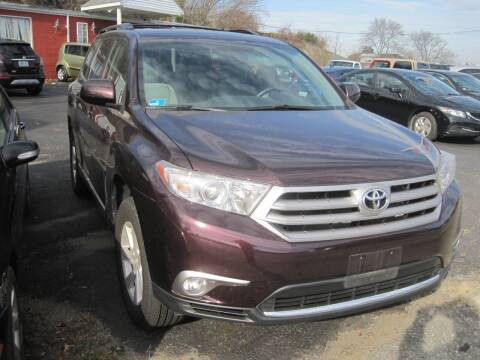 2013 Toyota Highlander for sale at Zinks Automotive Sales and Service - Zinks Auto Sales and Service in Cranston RI