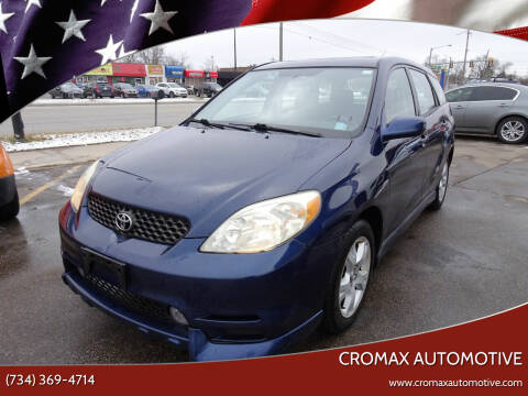 2003 Toyota Matrix for sale at Cromax Automotive in Ann Arbor MI