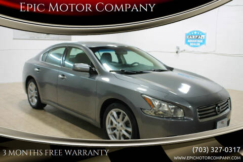2014 Nissan Maxima for sale at Epic Motor Company in Chantilly VA