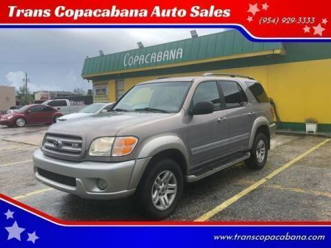 2002 Toyota Sequoia for sale at Trans Copacabana Auto Sales in Hollywood FL