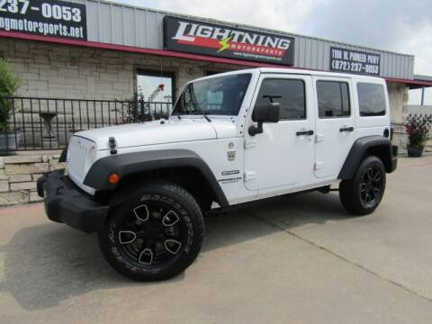 2014 Jeep Wrangler Unlimited for sale at Lightning Motorsports in Grand Prairie TX