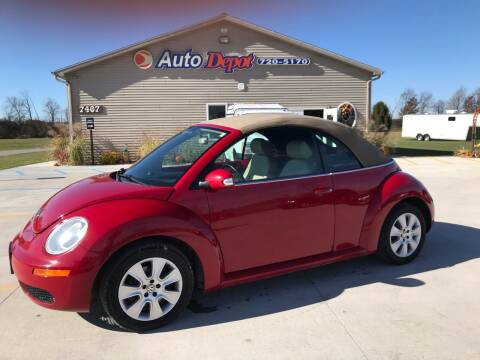 2009 Volkswagen New Beetle Convertible for sale at The Auto Depot in Mount Morris MI
