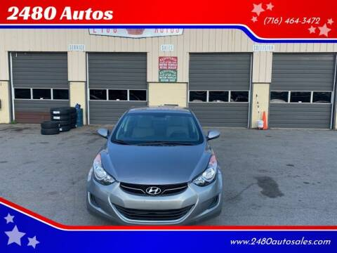 2013 Hyundai Elantra for sale at 2480 Autos in Kenmore NY