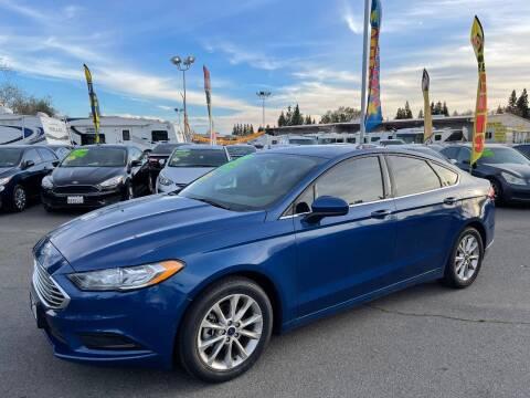 2017 Ford Fusion for sale at Black Diamond Auto Sales Inc. in Rancho Cordova CA