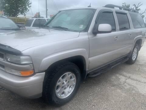 2004 Chevrolet Suburban for sale at FAIR DEAL AUTO SALES INC in Houston TX