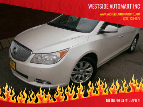2012 Buick LaCrosse for sale at WESTSIDE AUTOMART INC in Cleveland OH