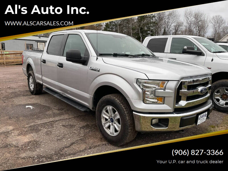 2015 Ford F-150 for sale at Al's Auto Inc. in Bruce Crossing MI