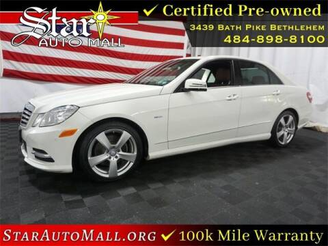 2012 Mercedes-Benz E-Class for sale at STAR AUTO MALL 512 in Bethlehem PA
