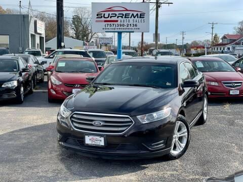 2013 Ford Taurus for sale at Supreme Auto Sales in Chesapeake VA