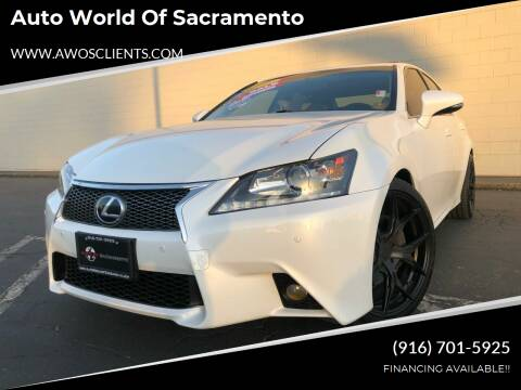2013 Lexus GS 350 for sale at Auto World of Sacramento Stockton Blvd in Sacramento CA