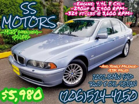 2002 BMW 5 Series for sale at SS MOTORS LLC in Edmonds WA