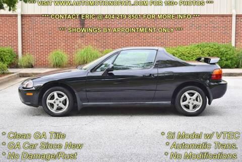 1995 Honda Civic del Sol for sale at Automotion Of Atlanta in Conyers GA