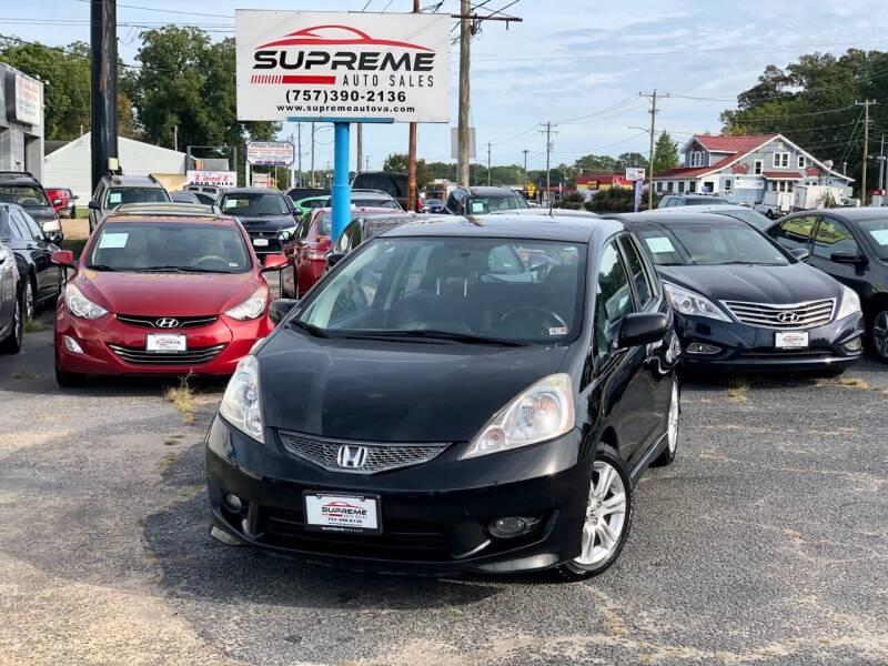 2010 Honda Fit for sale at Supreme Auto Sales in Chesapeake VA