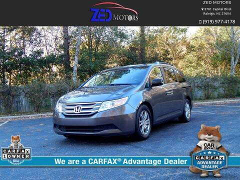2013 Honda Odyssey for sale at Zed Motors in Raleigh NC