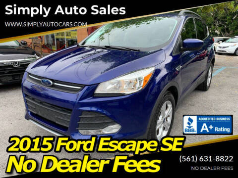 2015 Ford Escape for sale at Simply Auto Sales in Palm Beach Gardens FL