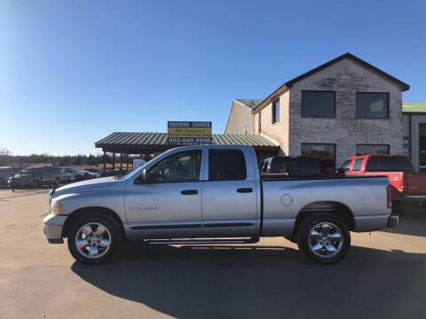 2002 Dodge Ram Pickup 1500 for sale at Driver's Choice in Sherman TX