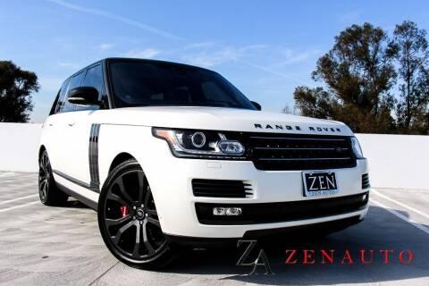 2017 Land Rover Range Rover for sale at Zen Auto Sales in Sacramento CA