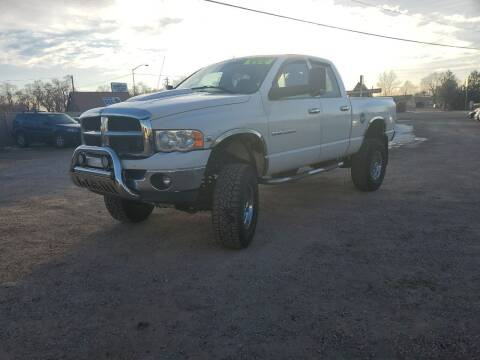 2004 Dodge Ram Pickup 2500 for sale at Canyon View Auto Sales in Cedar City UT