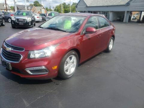 2015 Chevrolet Cruze for sale at STRUTHER'S AUTO MALL in Austintown OH