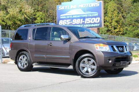 2013 Nissan Armada for sale at Skyline Motors in Louisville TN