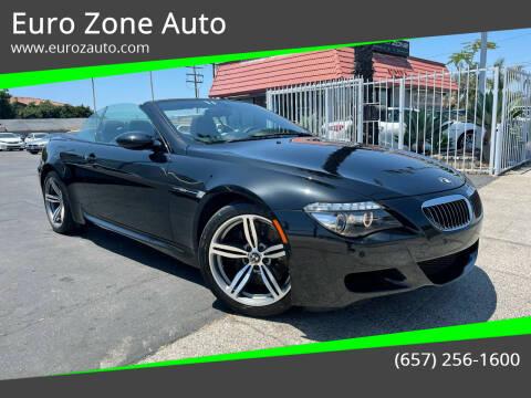 2008 BMW M6 for sale at Euro Zone Auto in Stanton CA