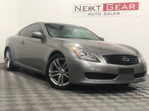 2008 Infiniti G37 for sale at Next Gear Auto Sales in Westfield IN