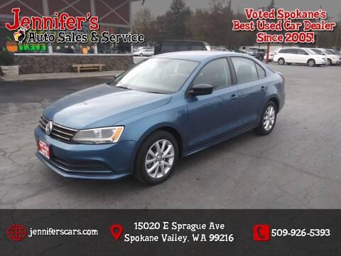2015 Volkswagen Jetta for sale at Jennifer's Auto Sales in Spokane Valley WA