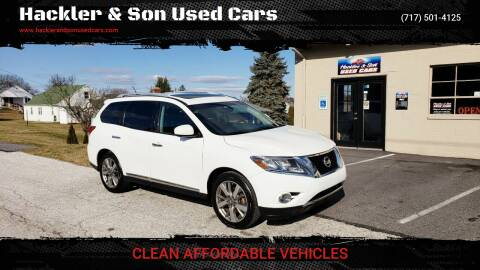 2013 Nissan Pathfinder for sale at Hackler & Son Used Cars in Red Lion PA