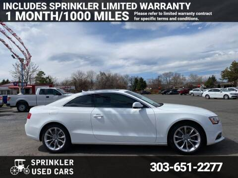 2013 Audi A5 for sale at Sprinkler Used Cars in Longmont CO