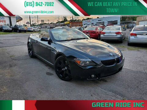2007 BMW 6 Series for sale at Green Ride Inc in Nashville TN