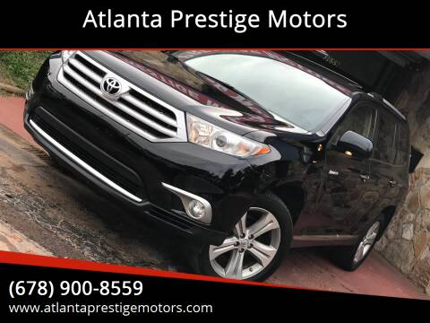 2013 Toyota Highlander for sale at Atlanta Prestige Motors in Decatur GA