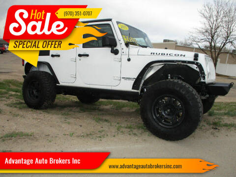 2015 Jeep Wrangler Unlimited for sale at Advantage Auto Brokers Inc in Greeley CO