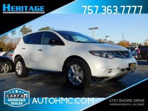 2011 Nissan Murano for sale at Heritage Motor Company in Virginia Beach VA