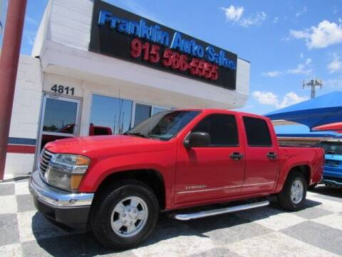 2005 GMC Canyon for sale at Franklin Auto Sales in El Paso TX