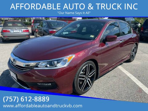 2016 Honda Accord for sale at AFFORDABLE AUTO & TRUCK INC in Virginia Beach VA