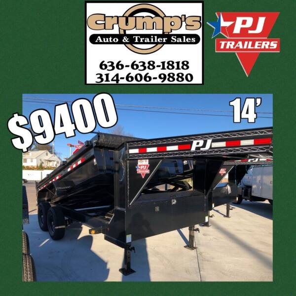 2021 Pj Trailers 14' Gooseneck Dump  for sale at CRUMP'S AUTO & TRAILER SALES in Crystal City MO