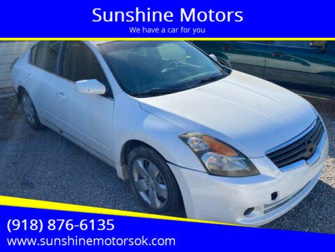 2007 Nissan Altima for sale at Sunshine Motors in Bartlesville OK