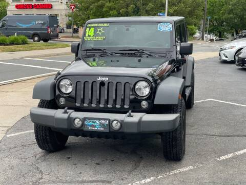 2014 Jeep Wrangler Unlimited for sale at Circle Auto Sales in Revere MA