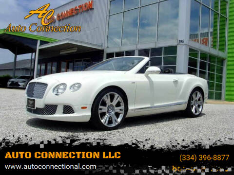 2013 Bentley Continental for sale at AUTO CONNECTION LLC in Montgomery AL