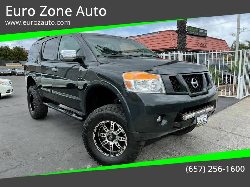 2008 Nissan Armada for sale at Euro Zone Auto in Stanton CA