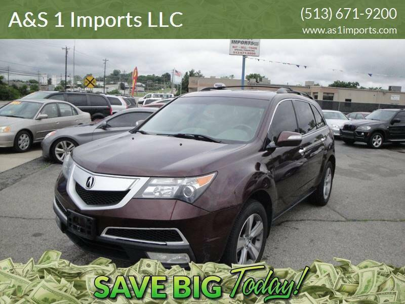 2010 Acura MDX for sale at A&S 1 Imports LLC in Cincinnati OH